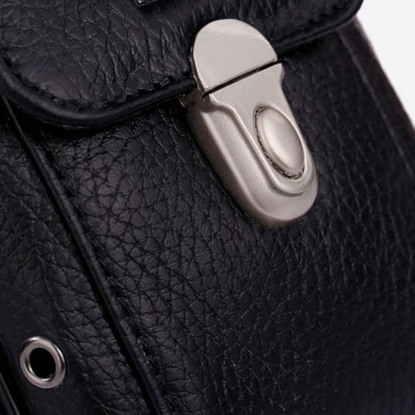 Men Genuine Leather Belt Fanny Waist Bag Cell Phone Pocket Cigarette Case