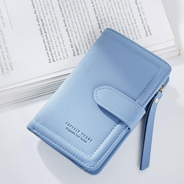 Women Multi-functional Two-folded Fashion Zipper Purse Wallet