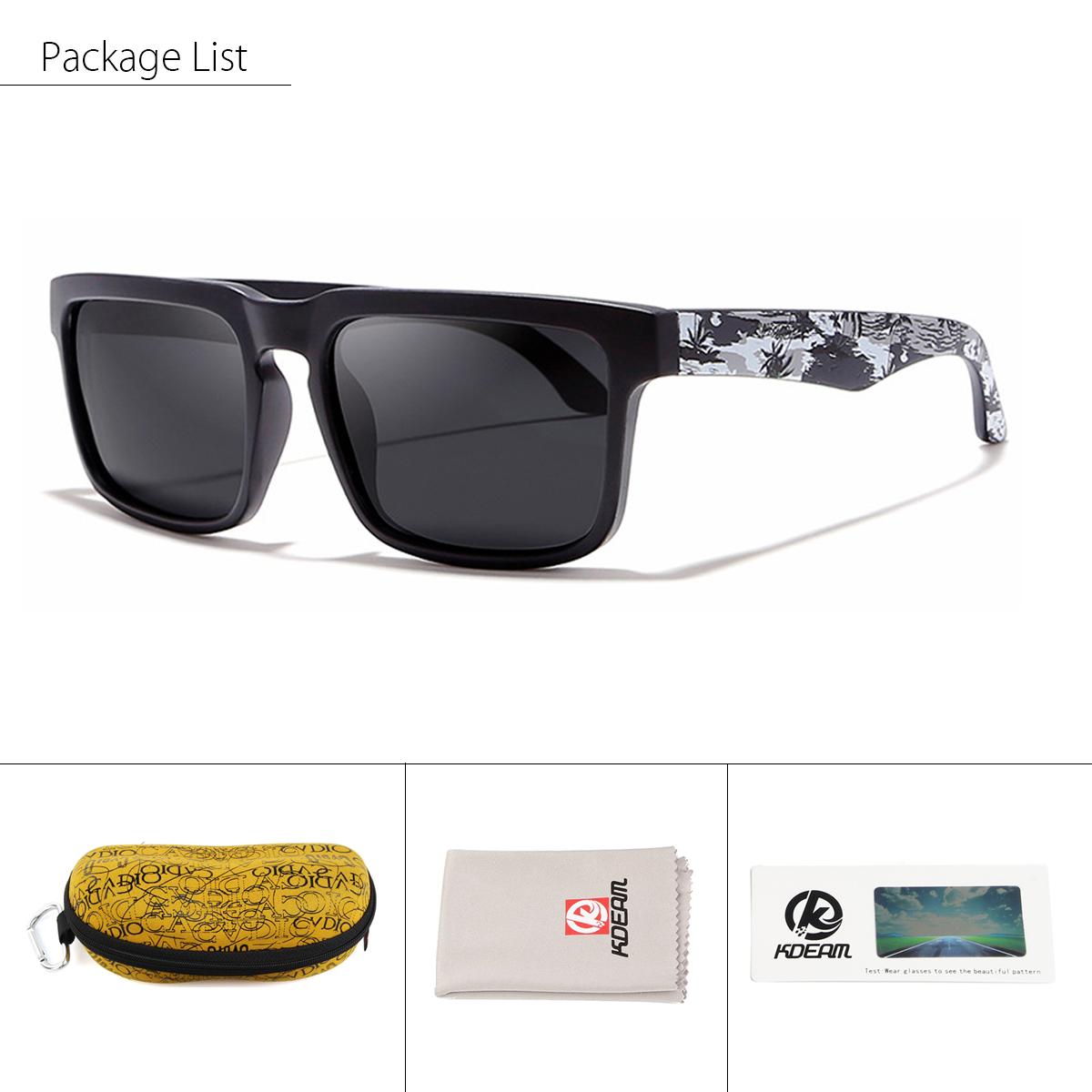 e62d89c997 kdeam kd2501 polarized sunglasses men women uv400 square frame sun ...
