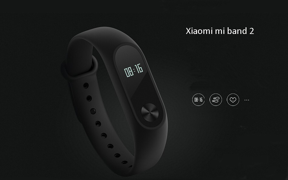 Original Xiaomi Miband 2 OLED Display Heart Rate Monitor bluetooth Smart Watch