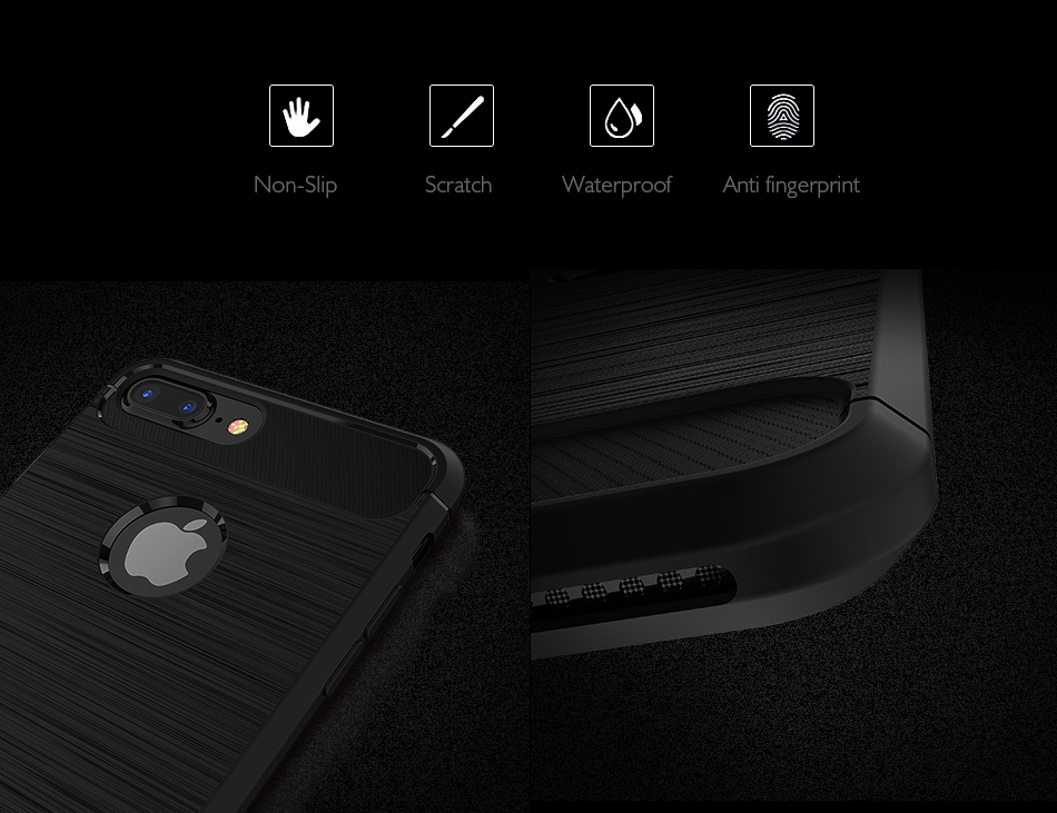 Bakeey Dissipating Heat TPU Carbon Fiber Case For iPhone 7 Plus/8 Plus