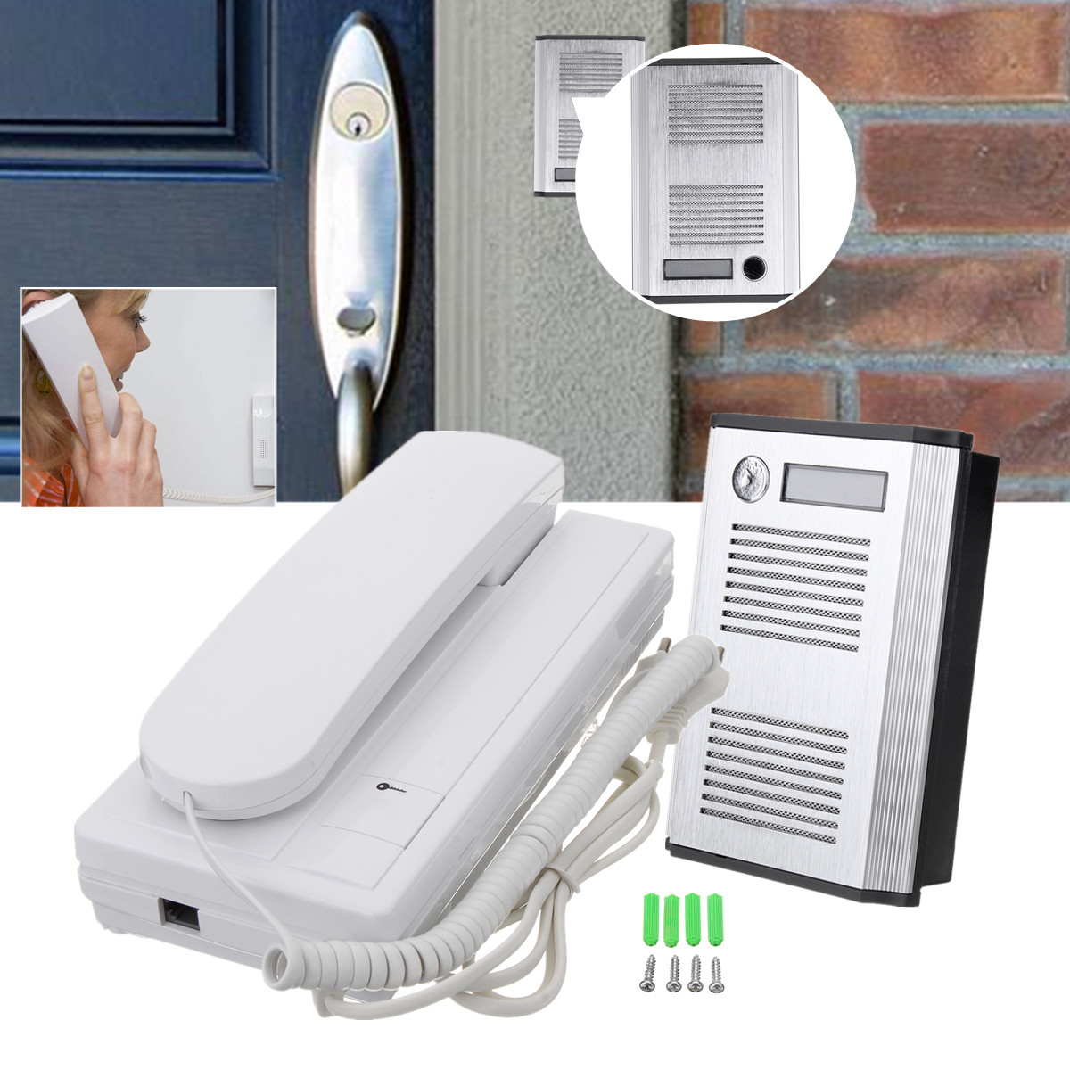 TL-3206B Wired Door Intercom Phone Doorbell Security Entry Call System Apartment Garage