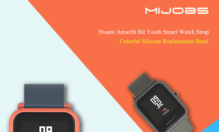 Mijobs Color Silicone Replacement Strap for Xiaomi Amazfit Bip BIT PACE Lite Youth Smart Watch