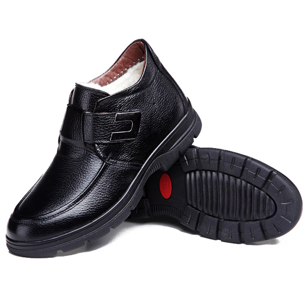 Men Casual Comfy Leather Ankle Boots
