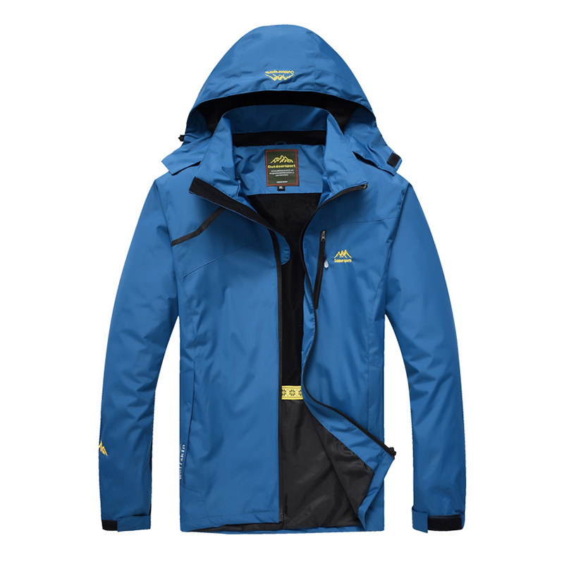 Mens Hiking Sport Waterproof Hooded Outdoor Jacket