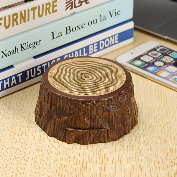 Outdoor Portable Mini Tree Speaker Hands-free bluetooth Wooden Stump Music Subwoofer Speaker