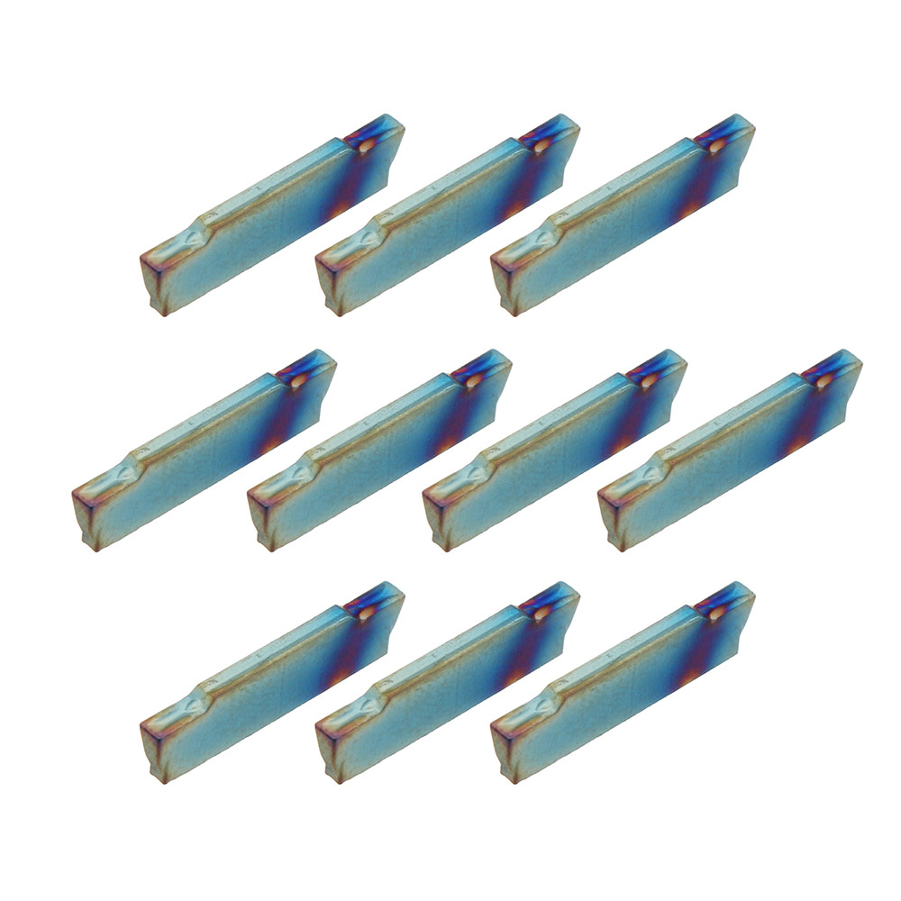 Drillpro 10pcs HRC45 Blue Nano MGMN150-G 1.5mm Carbide