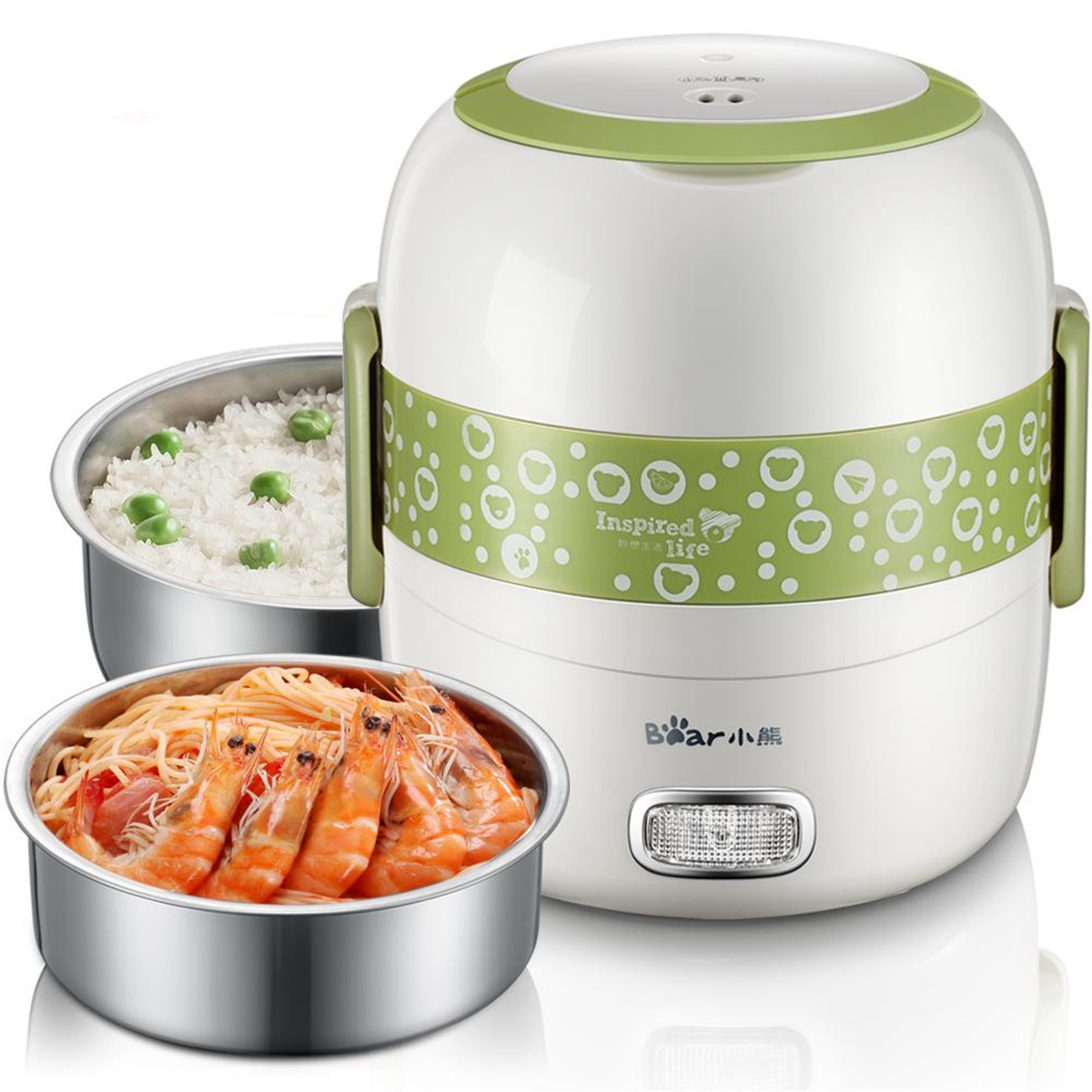 Electric Heating Lunch Box Food Warmer Meal Steamer Con