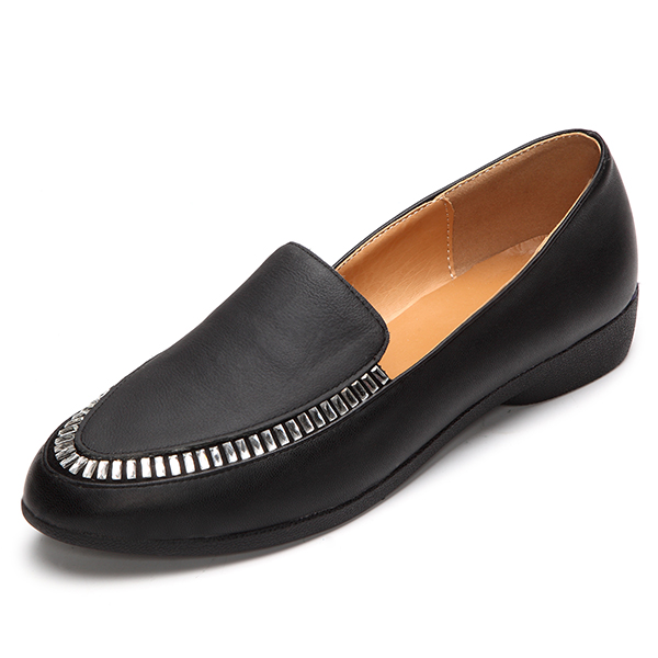 Flat Shoes Leather Women Casual Outdoor Slip On Soft Loafers