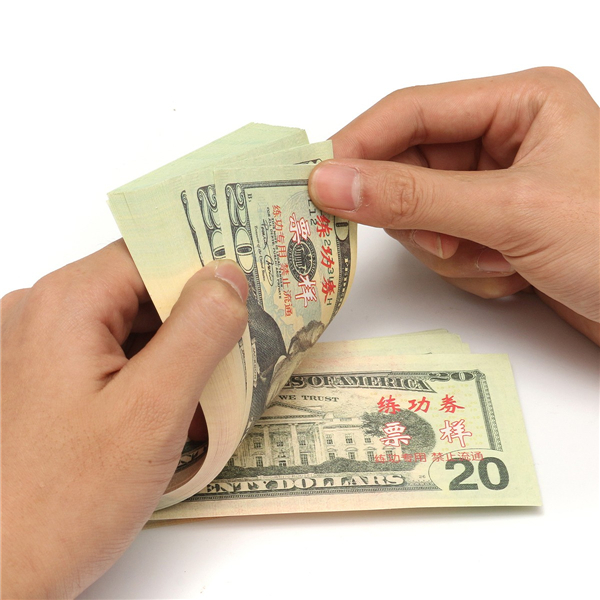 100pcs 20 US Dollars Bank Staff Learning Training Banknote Paper Money