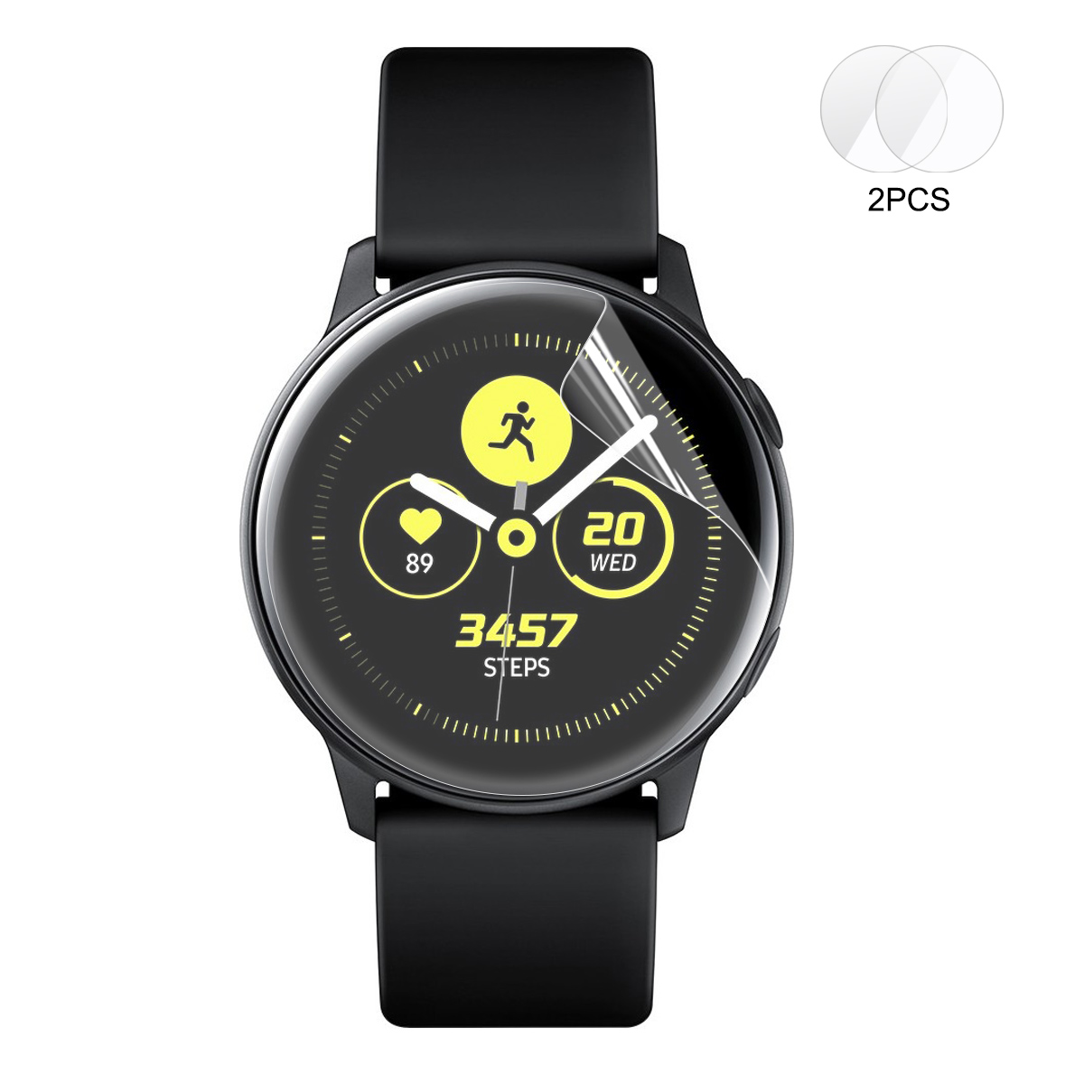 2 Packs Enkay Full Screen Cover Watch Screen Protector For Samsung Galaxy Watch Active 2019