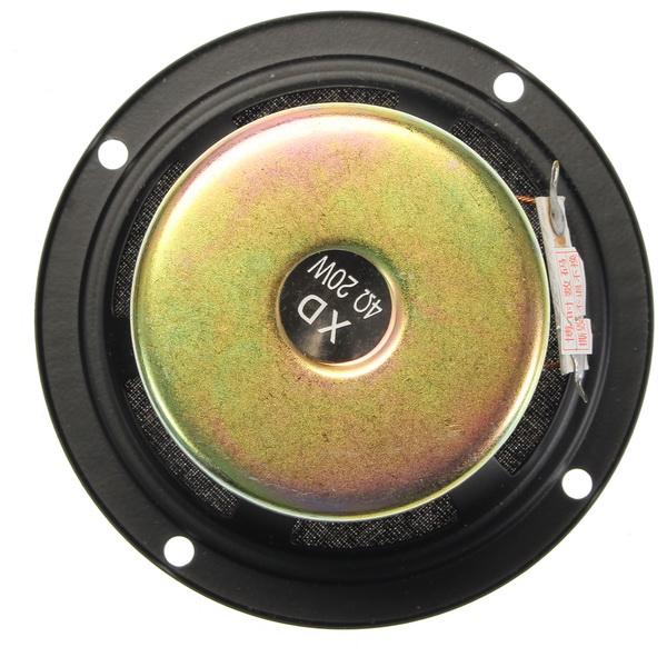 2pcs 3inch 4ohm 20W Full Range Audio Speaker High/mediant/Bass Stereo Loudspeaker
