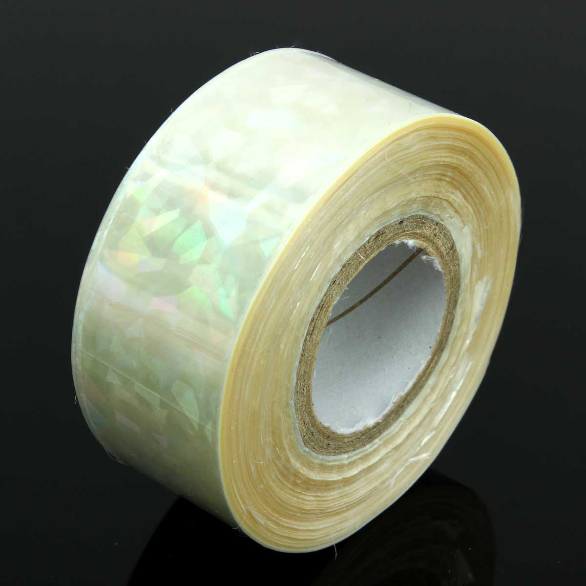 1 roll Colorful Transparent Nail Art Sticker Rainbow Luster UV Gel DIY Design Thin Manicure