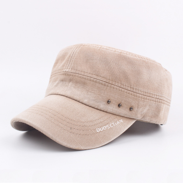 Mens Washed Cotton Vintage Flat Hats