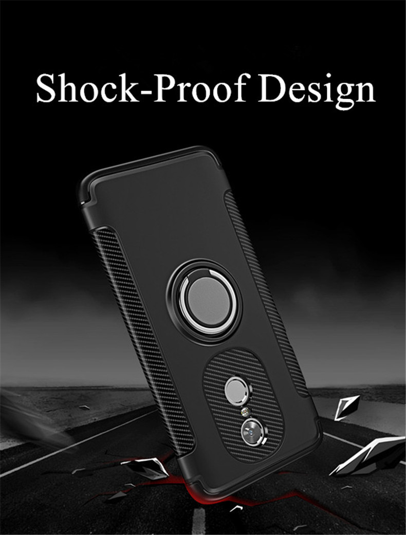 Bakeey Armor Shockproof Magnetic 360° Rotation Ring Holder TPU+PC Back Case For Xiaomi Redmi Note 4