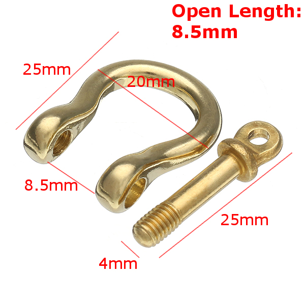 Pure Copper Horseshoe Belt Buckle U Shape Shackle for Craft DIY Belt Leather