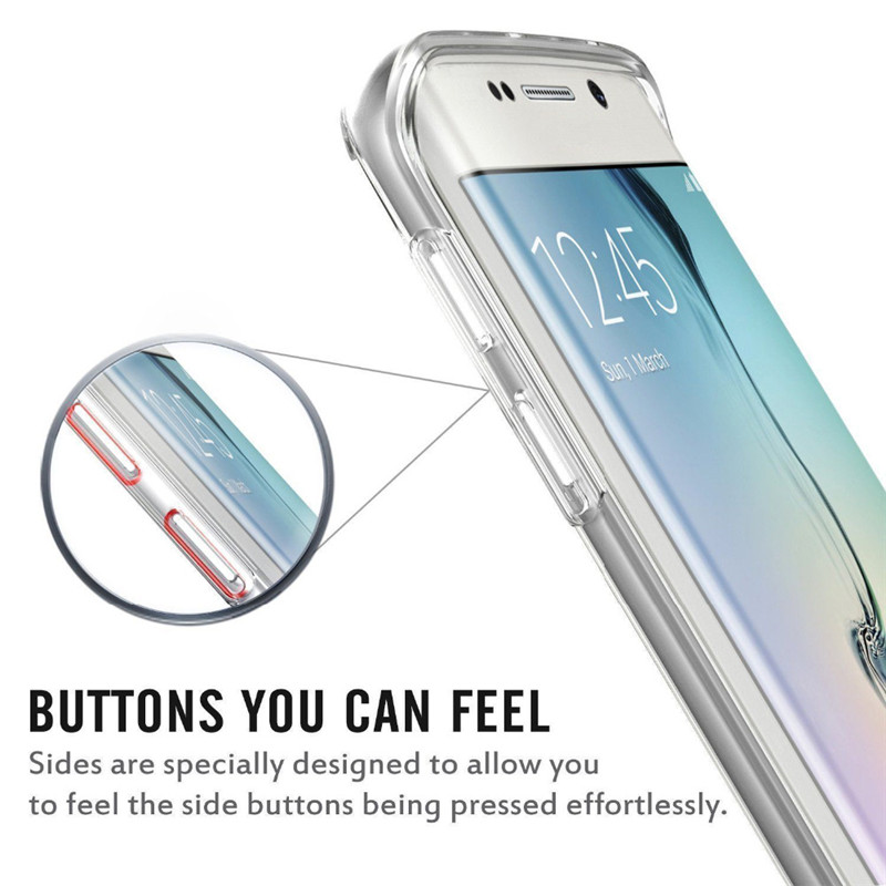 360º Full Body Clear Touch Screen Case For Samsung Galaxy S6 Edge