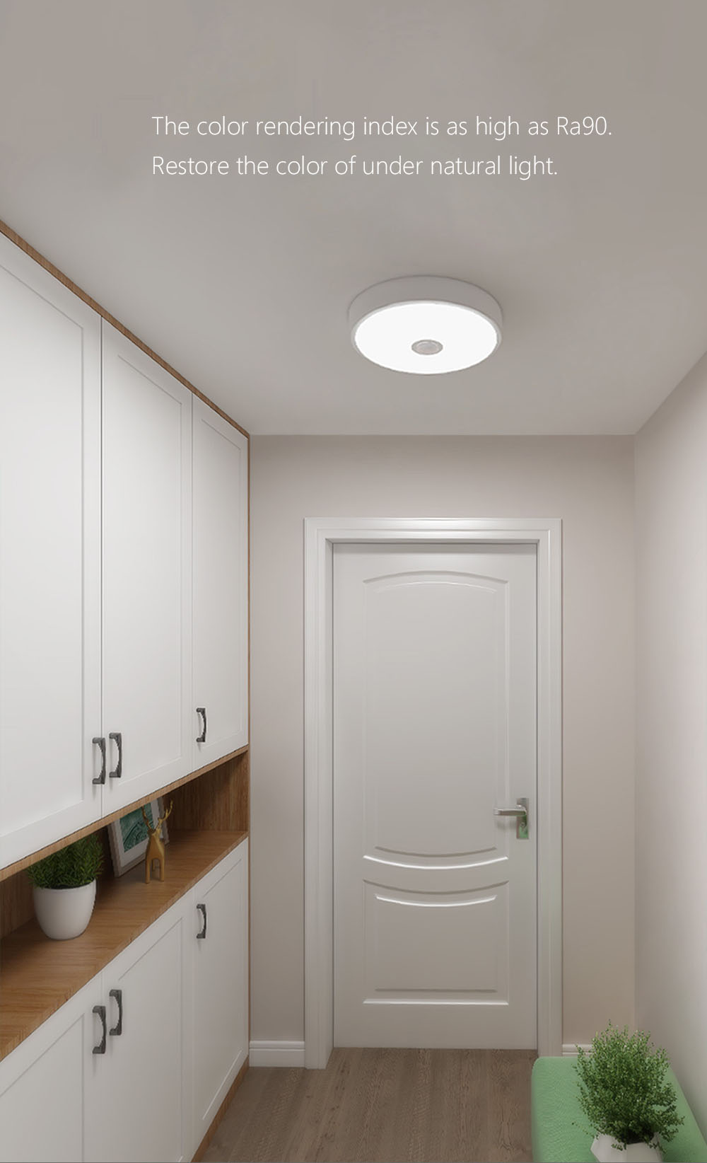 Xiaomi Yeelight YLXD09YL 10W Human Body Motion Sensor LED Ceiling Light Porch Corridor AC220-240V
