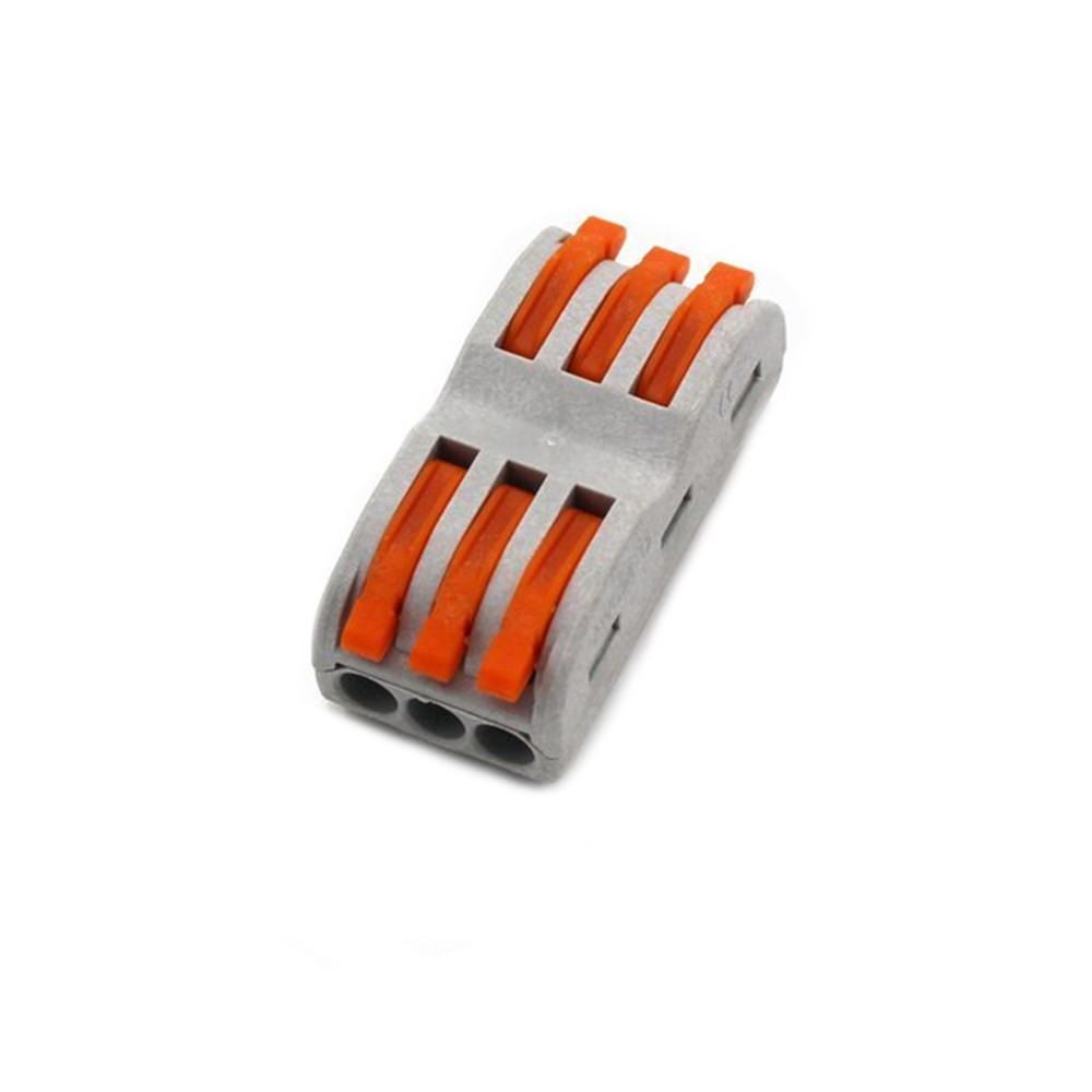 1X 5X 10X LUSTREON Electrical Wiring Household 3PIN Fast Wire Connector Terminal for Lamp Lantern Connection