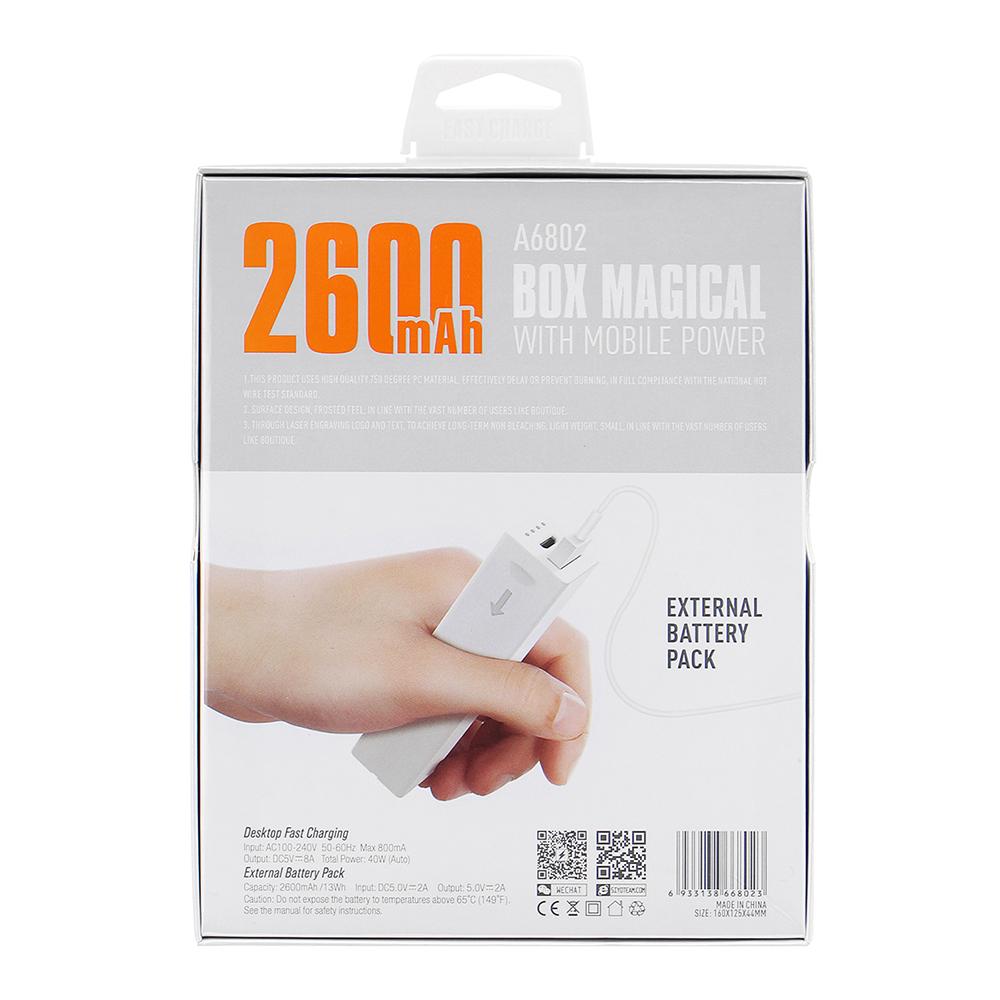 LDNIO A6802 40W 6 USB Ports USB Charger Desktop Charger EU Plug with Power Bank 2600mAh