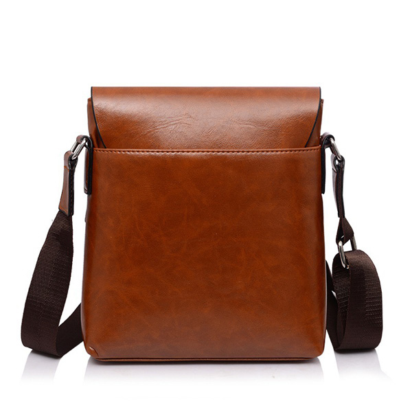 Men Business PU Casual Shoulder Messenger Briefcase Crossbody bag