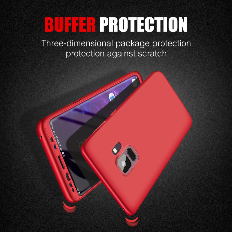 Bakeey 360° Full Body Front PC + Back Soft TPU Protective Case for Samsung Galaxy S9/S9 Plus