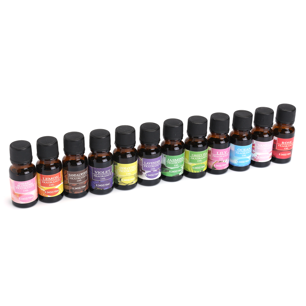 12pcs Water Soluble Essential Oils Diffuser Aromatherapy Fragrance Aroma Spa Relieve Fatigue