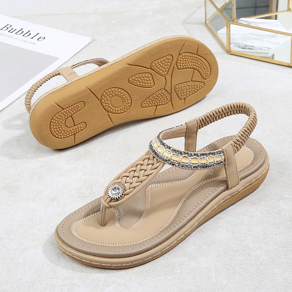 Women Shoes Knitted Casual Soft Beach Sandals