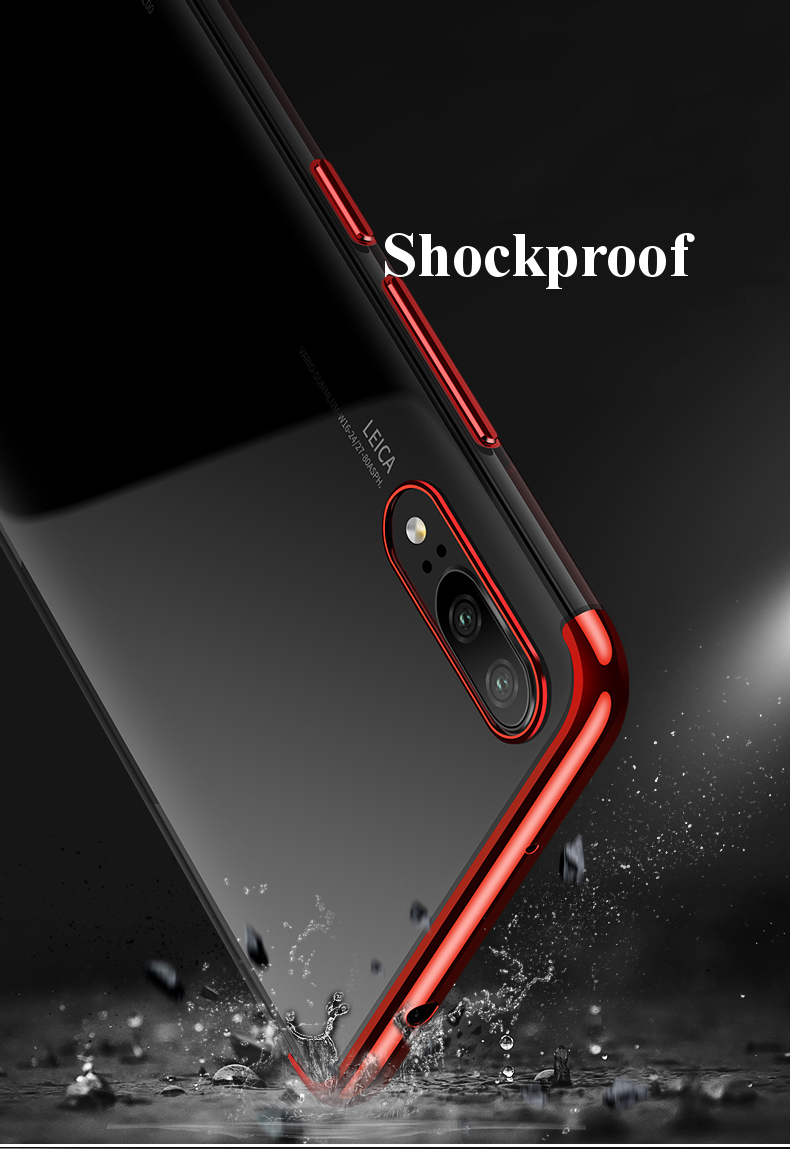 CAFELE Luxury Ultra Thin Color Plating Shock-proof Soft TPU Protective Case For Huawei P20