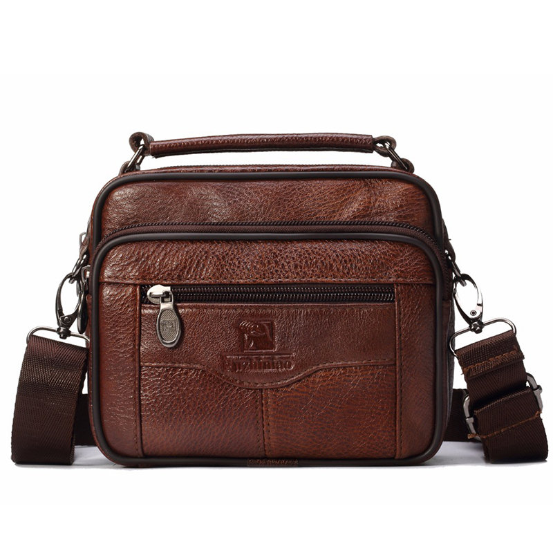 Men Genuine Leather Messenger Bag Trip Small Crossbody Bag