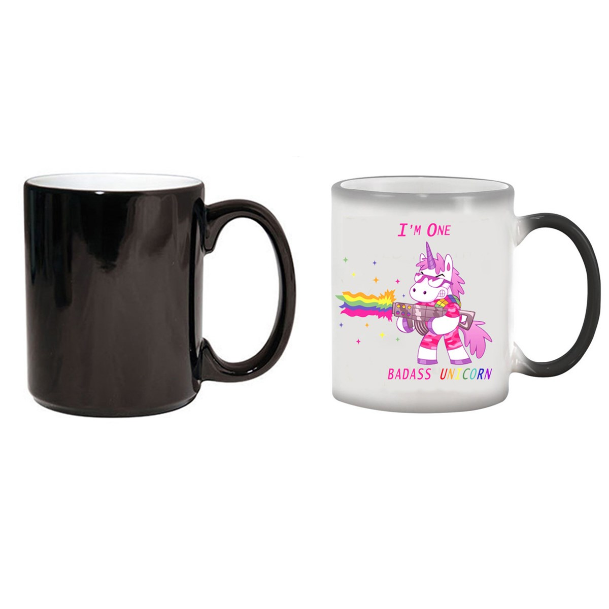 Novelty Unicorn Heat Colour Changing Mug Ceramic Coffee Tea Magic Cup Funny Gift Drinkware Tools