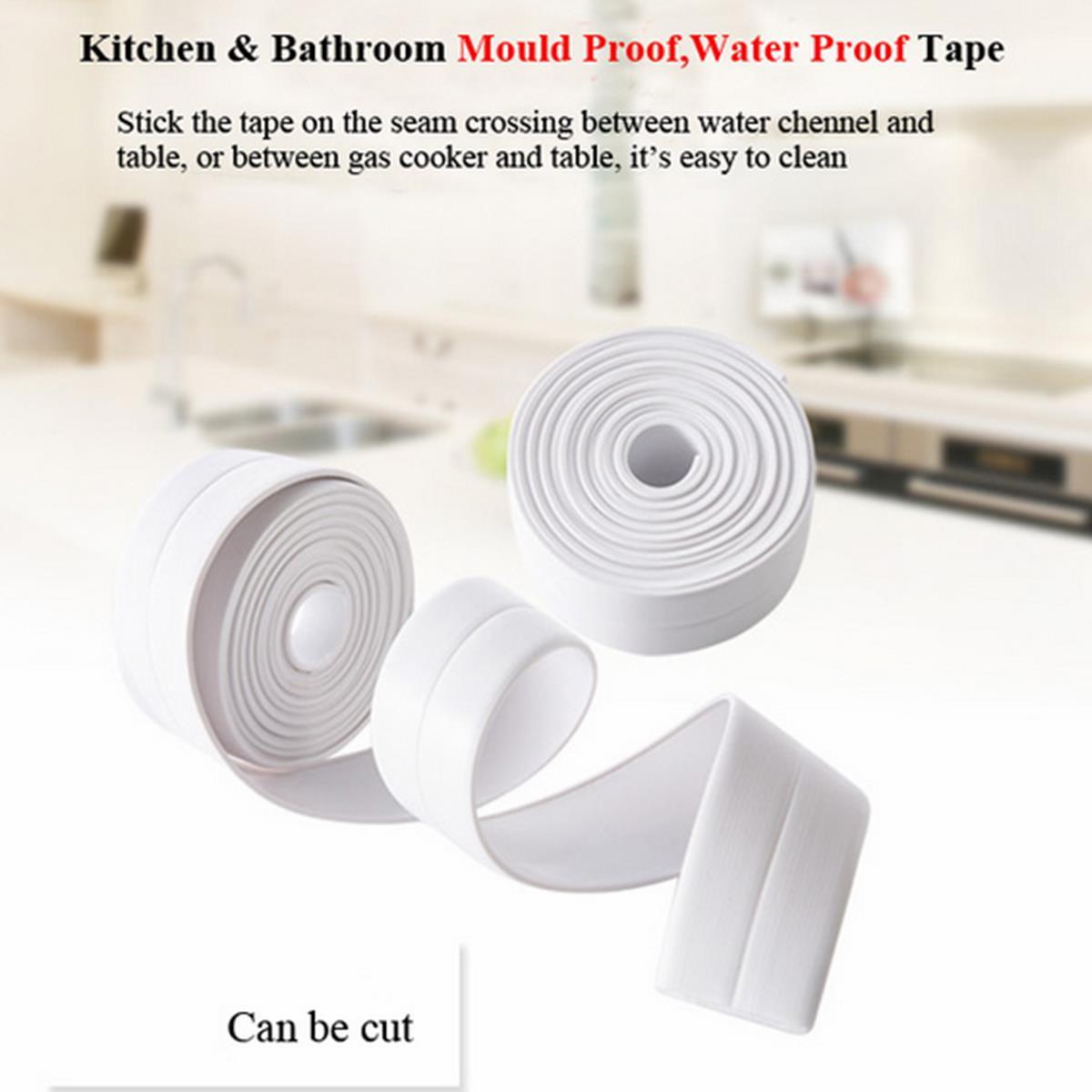 Honana Kitchen Bathroom Wall Seal Ring Tape Waterproof Tape Mold Proof Adhesive Tape