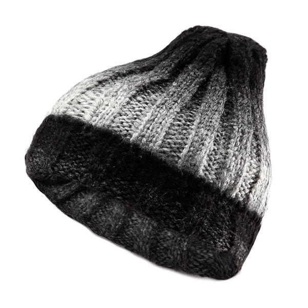 Women Knit Gradient Color Braided Hat Crochet Knitting Hat Ski Beanie Cap