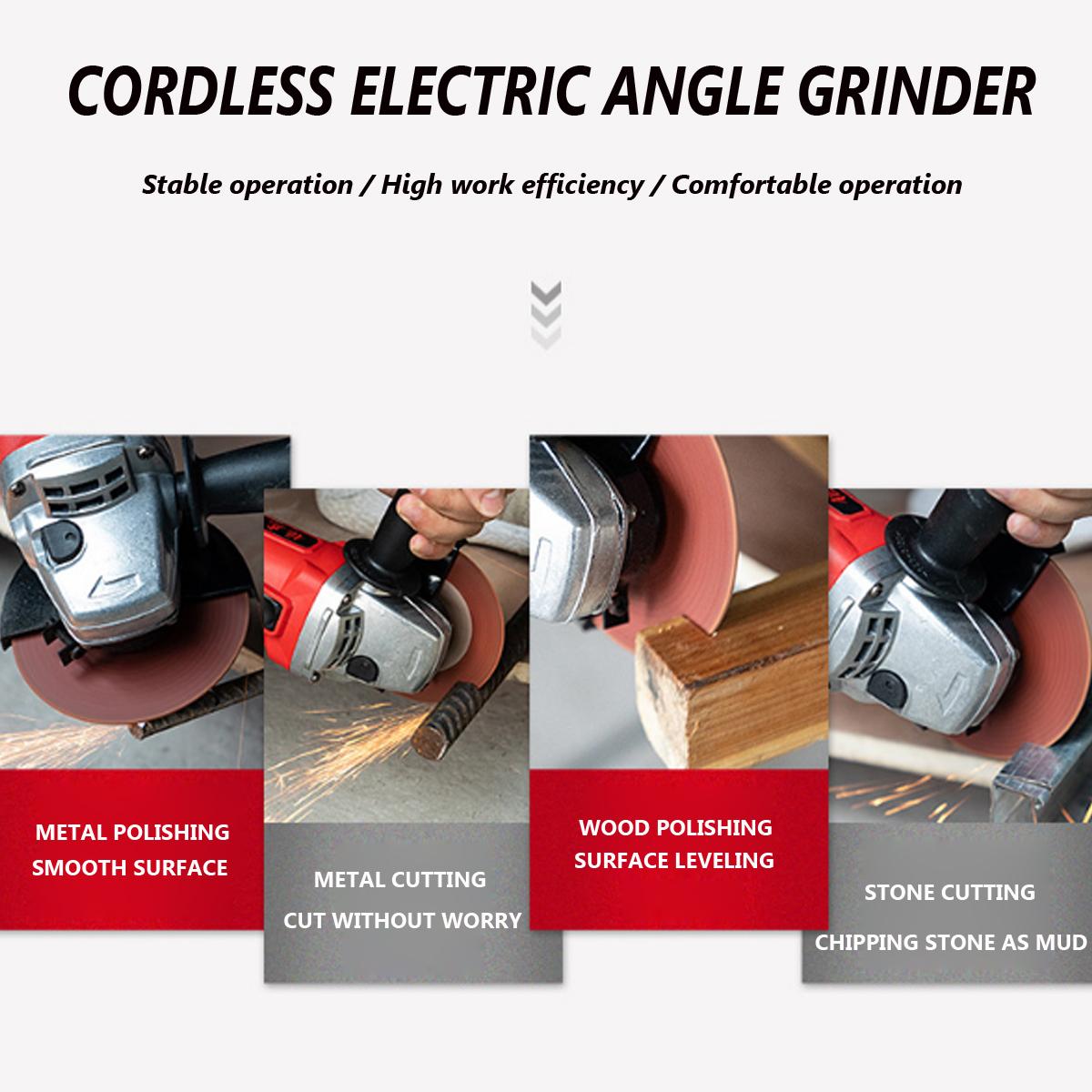800W 42V outil électrique de coupe de puissance de machine de meulage d'angle électrique sans fil de meuleuse