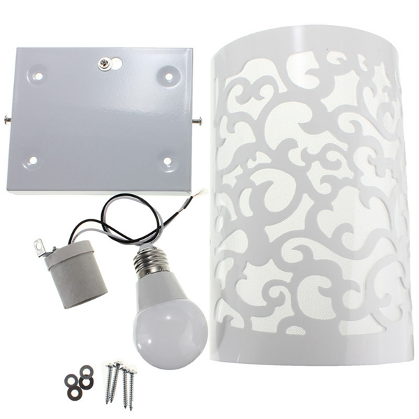 3W Modern Up & Down Cut Curved White Wall Light Sconce Lighting Lamp Indoor