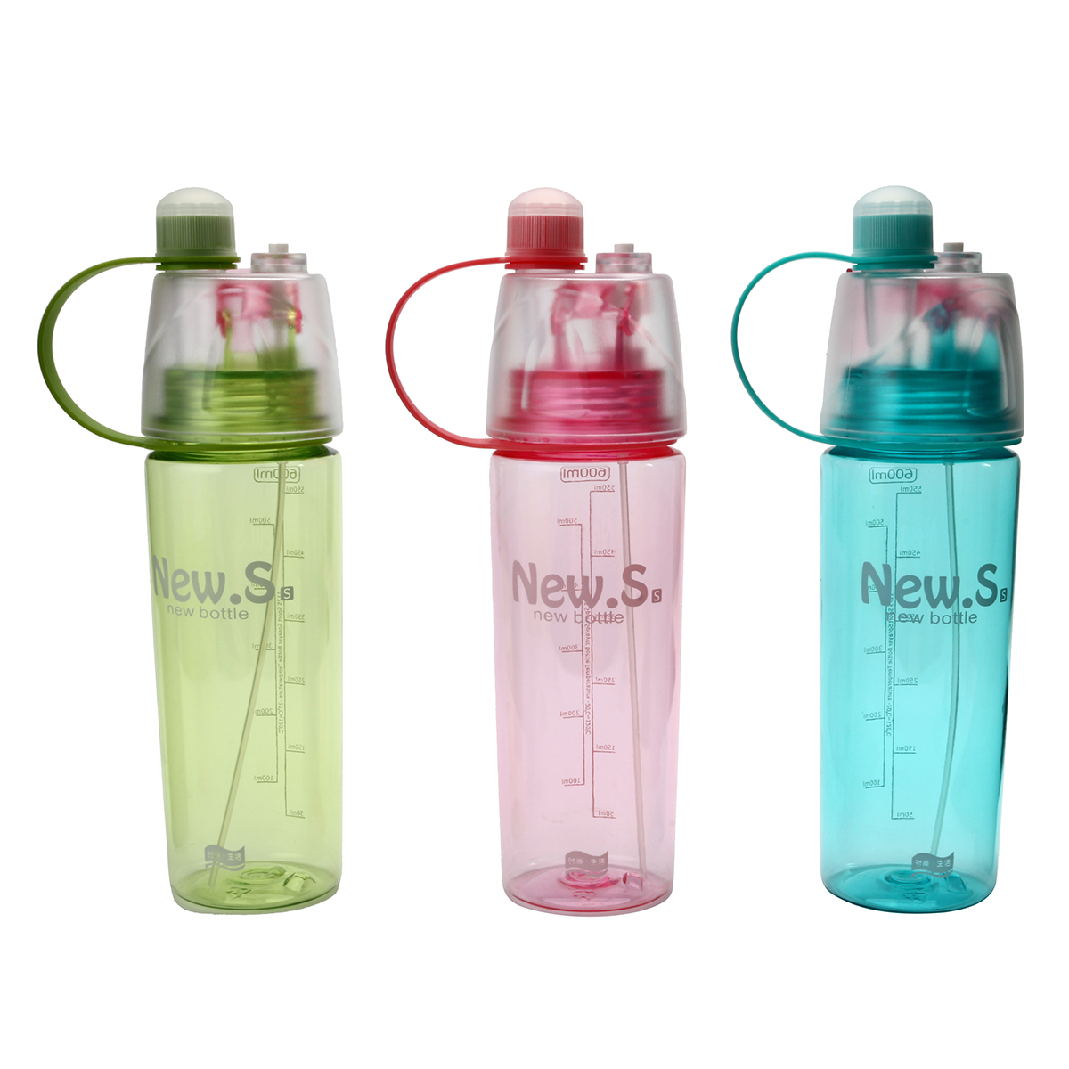 AU 600mL Portable Spray Water Drink Bottles Travel Outdoor Sport Cycling Running