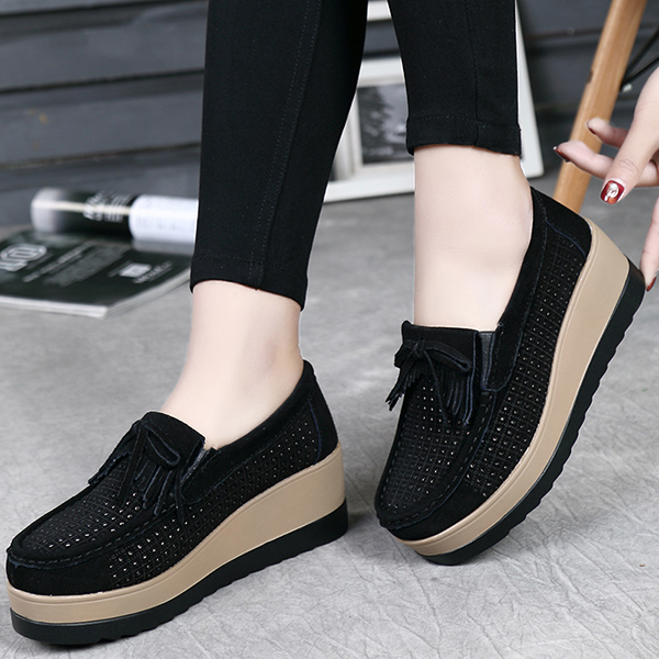 Hollow Out High Heel Casual Comfy Platforms Women Shoes