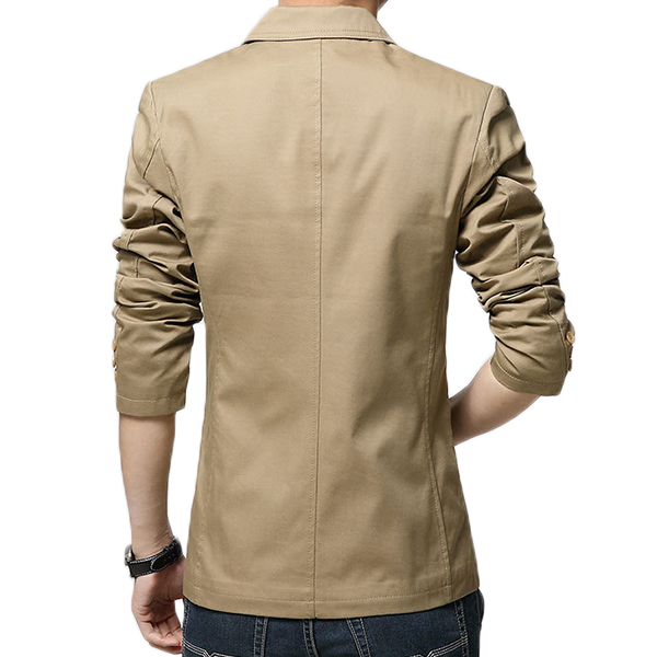 Spring Fall Casual Slim Fit Pure Color Suit Coat Jacket Blazers