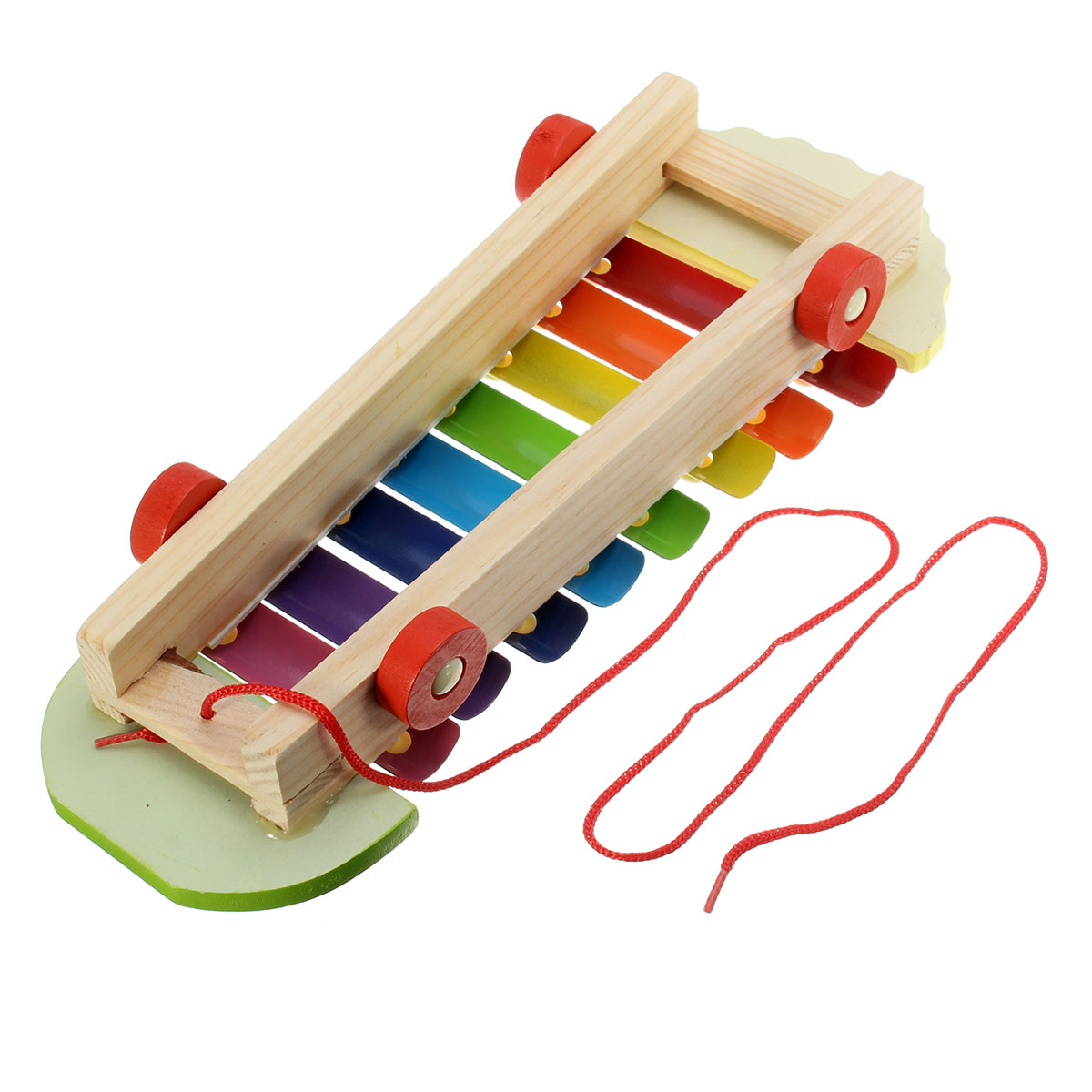 Baby Kid Musical Development Early Educational Peacock Hitter Knock Piano Wooden Toy