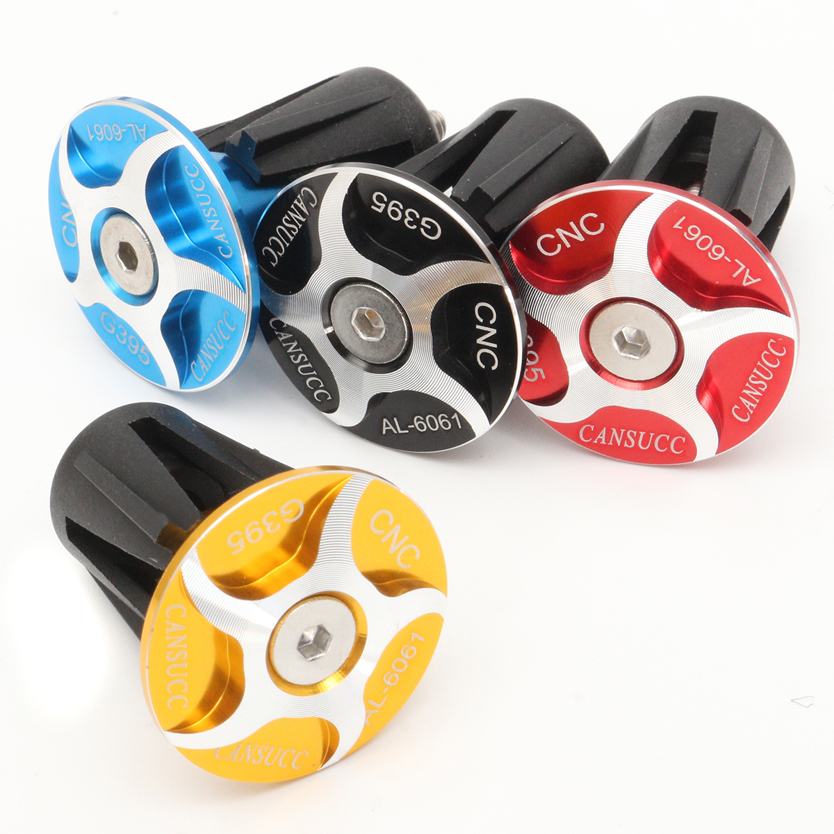 BIKIGHT CNC Aluminum Handlebar Grips Bar End Plug Cap MTB Mountain Bike Accessories