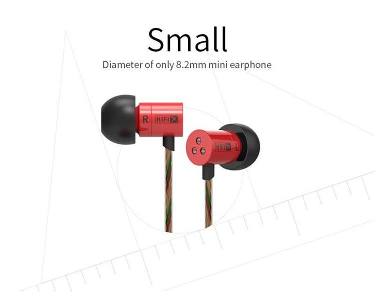 KZ HDS1 Miniature 3.5mm In-ear Earphone HIFI Wire Headphone Metal Bass Stereo Dynamic Headset with Mic