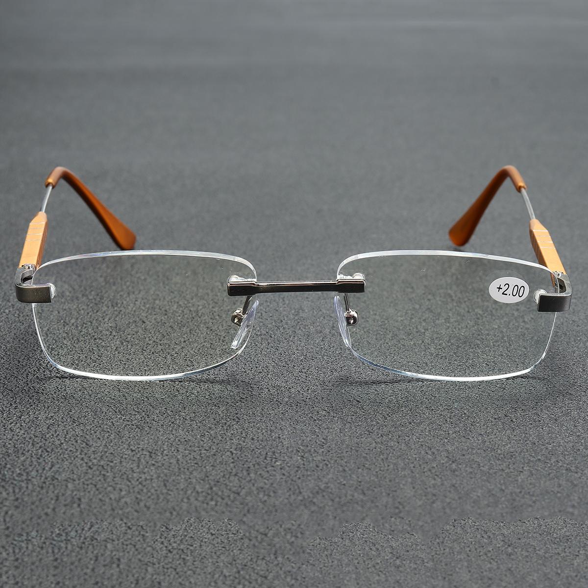 Aluminum-magnesium Alloy Reading Glasses Frameless HD Resin