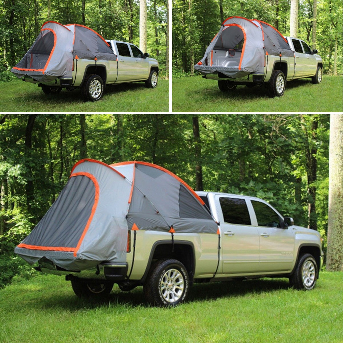 2 People Outdoor Camping Pick-Up Truck Bed Tent SUV Waterproof Canopy Camper Pickup Cover Tent Roof