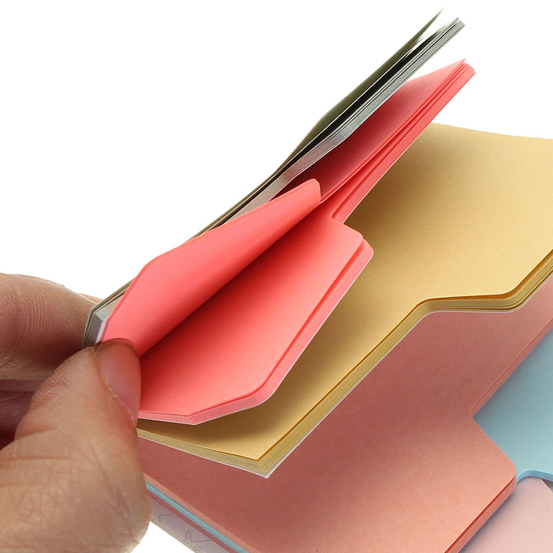 6 Colors Cute Notebook Note Index Paper Card Sticker Note Post it Memo for School Office Supplies