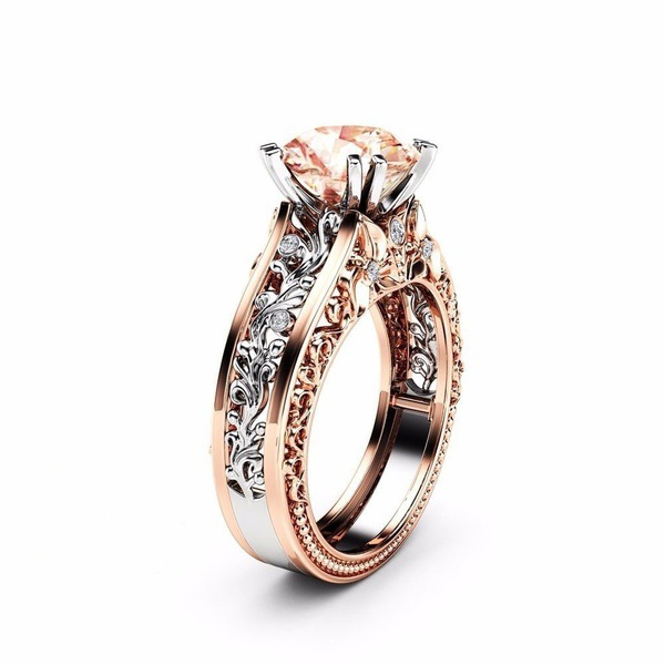 Women's Elegant Rose Gold Hollow Ring Valentine's Day Gift