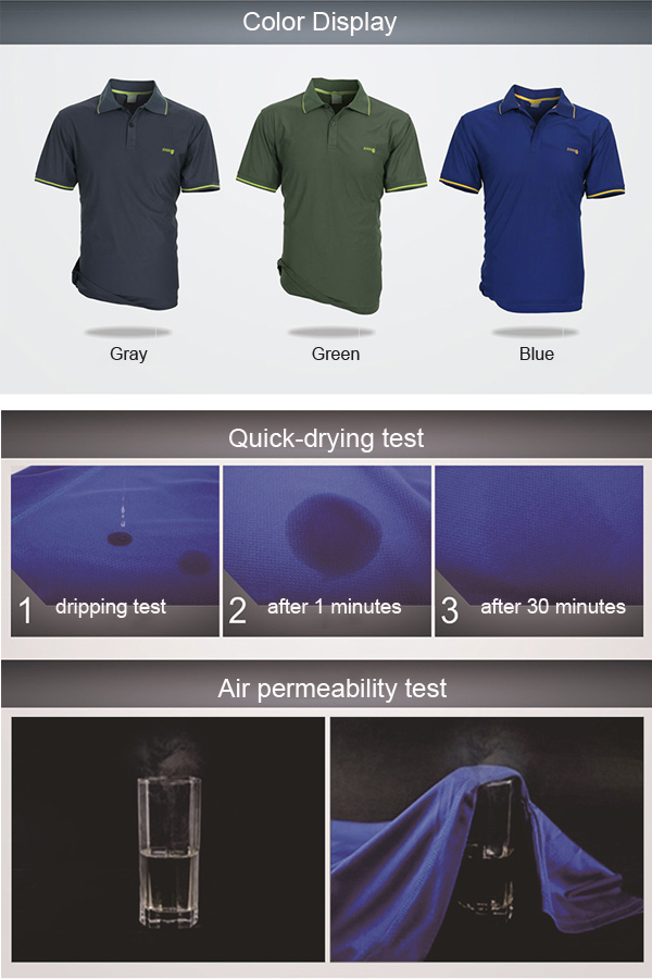 Outdoor Sport Breathable Quick-dry Tees Casual Short Sleeve
