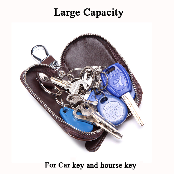 Portable PU Leather Key Holder Heart-shaped Card Key Holder