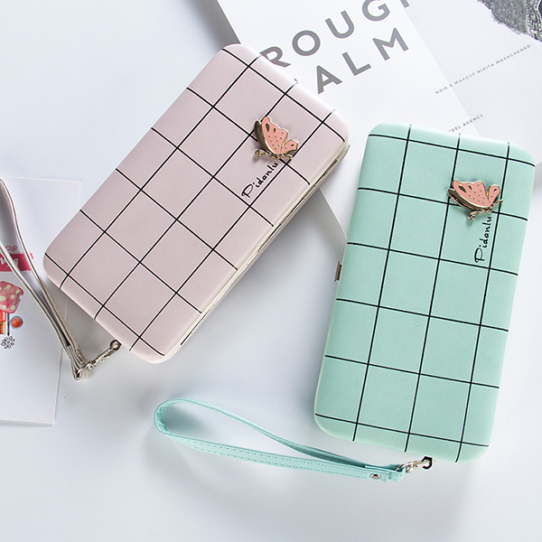 Women PU Long Wallet Phone Holder Fashion Money Bag