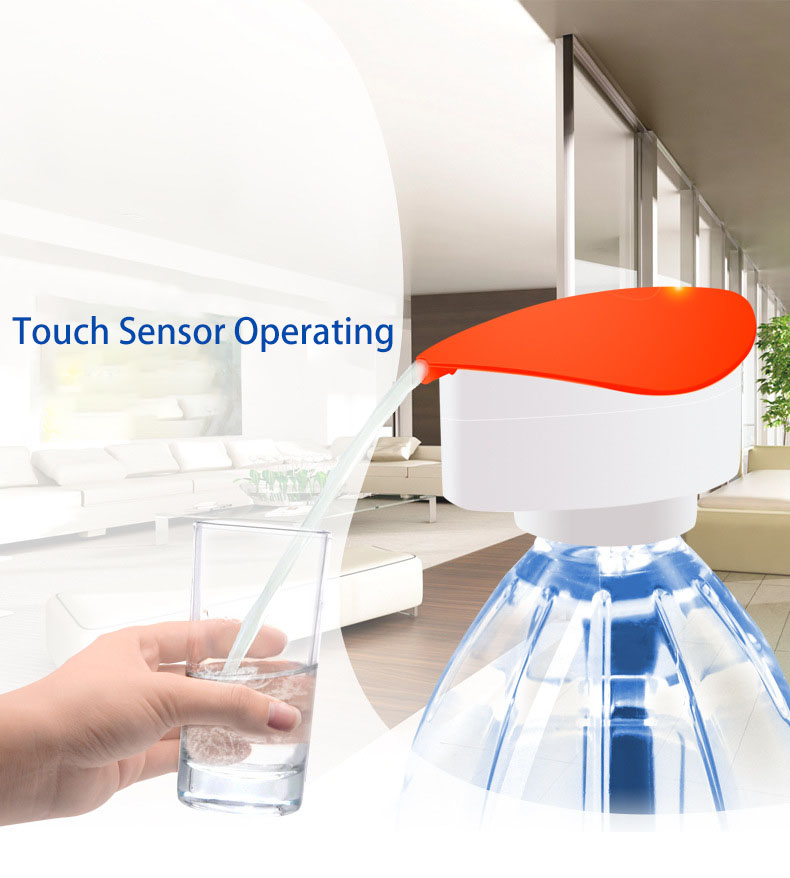 KCASA KC-EWP06 Electric Water Bottle Pump Dispenser Rechargeable Drinking Water Bottles Suction Unit Touch Sensor Water Dispenser
