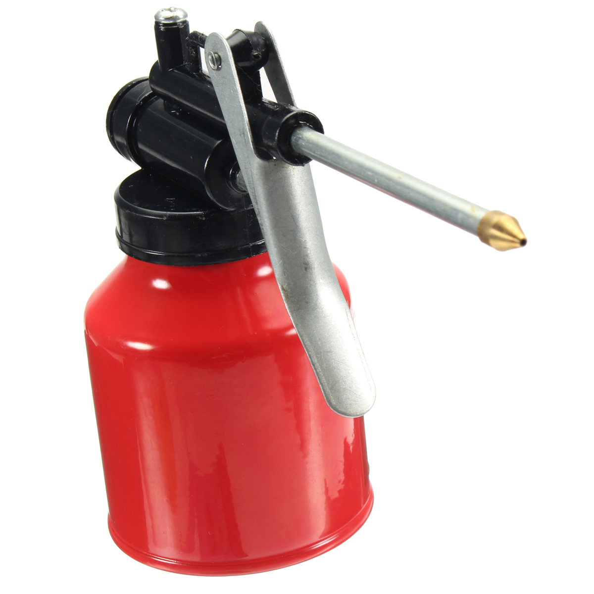 Universal Autos Oil Pump Action Oiler 250ml Lubrication Feed Can Spray Tool Pot
